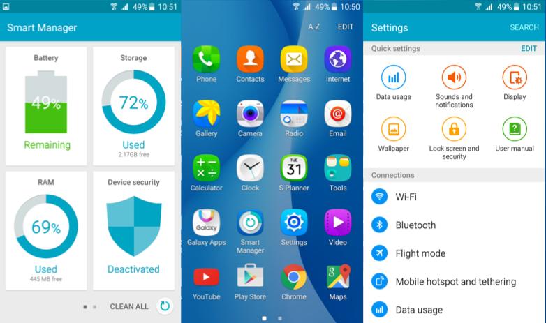 Samsung Galaxy On5 Software