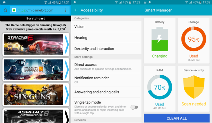 Samsung Galaxy J5-Software